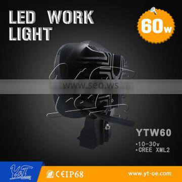 Factory price 60W led work lamps for ATV suv vehicle 60w Led lamps for diving