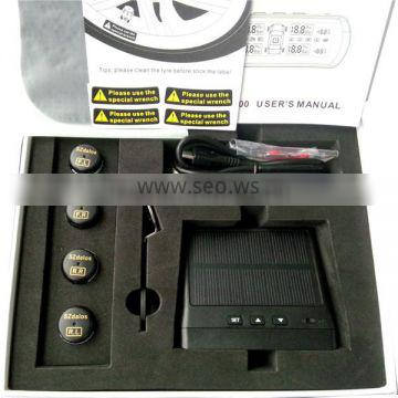 Wireless external solar power car diagnostic tool tpms 433.92 mhz tyre pressure monitoring