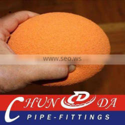 DN125 Natural Sponge,hard Concrete pump cleaning ball for junjin
