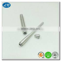 Custom non-standard precision aluminum mechanical pencil parts based on drawings