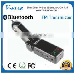 Car fm transmitter with 3.5mm line out function for mobile phone