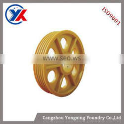 casting pulley wheel for elevator spare parts
