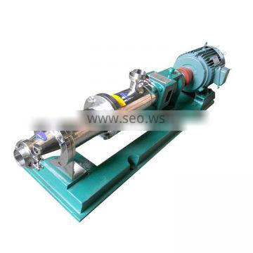 Stainless steel sanitary food industrial high temperature heating gasoline oil screw pump made in China