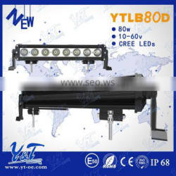 Anti-vibration Spot Flood beam 16Inch 80W led work light bar 7200LM, offroad led spot light bar , ip68 led work lights