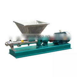 Sanitary stainless steel g type rotary screw pump for oil