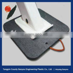recycled black hdpe outrigger pad/pe outrigger pad for crane/uhmwpe crane outrigger pad