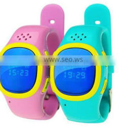 GSM LCD Smart GPS Tracker Wrist Watch SOS GPRS Tracking with Microphone for Children