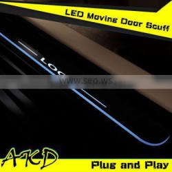 AKD Car Styling Mazda 3 LED Moving Door Scuff New Mazda3 LED Door Sill plate 2014-2015 Side Step Cover Pedal