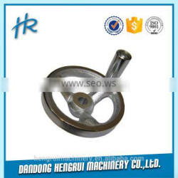 Sand casting oil pipe fitting hand wheel