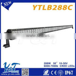 4x4 accessory Wholesale cheap straight led offroad light bar 288w 52 inch 50inch curved led light bar