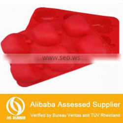 food grade apple shape kitchenware silicone jelly mold with 6holes
