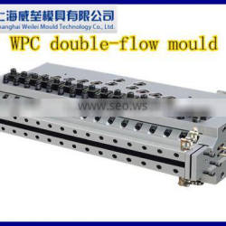 2016 Shanghai Weilei extrusion mould PVC doule flow mould can increase products core hardness largely