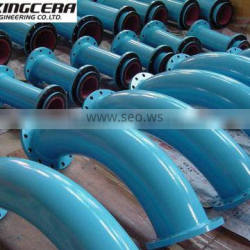 High alumina ceramic lined wear-resistant dust elbow