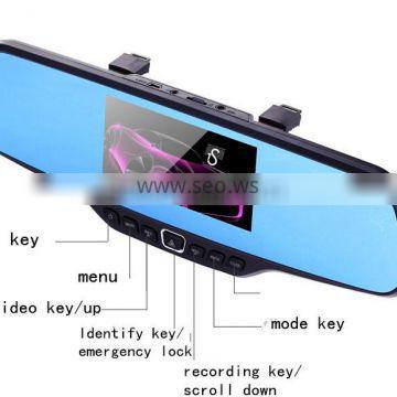 model 3450 WIFI Wireless Car Parking Assistance Backup System Rear View mirror Camera for car
