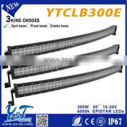 "EXW price! Y&T curved led off road light bar 50"" 300w LIGHTING Bars"