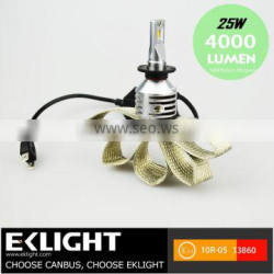 New arrived 6V start 6-30VDC input voltage H7 car led headlight bulbs Emark approved