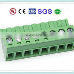 7P Cable Terminal Block XS2ESDV 300V 15A 5.0/5.08/7.62/3.81/3.5mm Pitch with UL, CE, ISO, SGS,CQC Approved