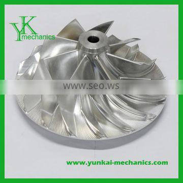 High precision cnc machining axial fan impeller, aluminum precision axial fan impeller
