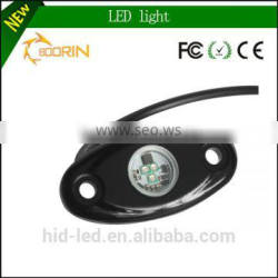 9-32v DC car led rock light five colors 9w 12v led rock light for Trucks, Cars, outdoors, Jeeps