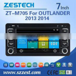 car dvd player with gps navigation for mitsubishi OUTLANDER 2013 2014 with Rear View Camera GPS BT TV Radio RDS