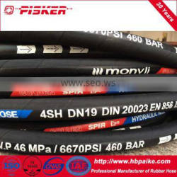 Hebei excellent Flexible High Pressure Hydraulic Rubber hose 1sn / SAE 100r1
