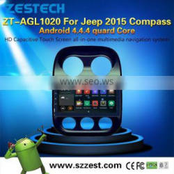 NEW 10.2inch Android 4.4.4 up to 5.1 multimedia player car dvd For Jeep 2015 Compass OBDII 1.6GHz MCU 3G WiFI