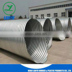 Large diameter corrugated galvanized steel tube with good quality