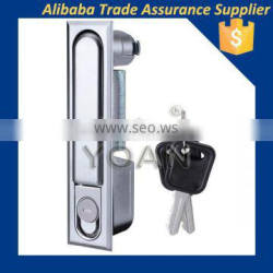 Black zinc safety cylinder electric door handle lock