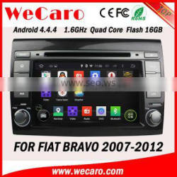 Wecaro Android 4.4.4 Touch Screen WIFI 3G dvd player for fiat bravo car dvd navigation multimedia system 2007 -2012