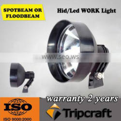 HID work light 3200lm HID driving light 9inch 12V 55W HID offroad light HID search light for trucks,boats,cars
