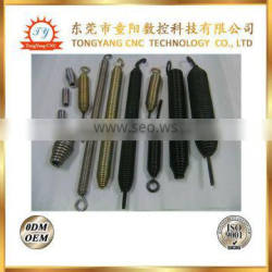 TYCNC Manufactured in China thin long spring with hook tension spring
