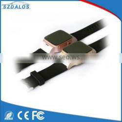 On sale two-way communication security wrist watch gsm gps personal sos button elderly cell phone
