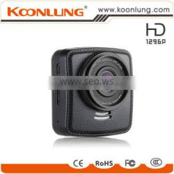 Koonlung unique design leather cover full super hd 1296P car camera dvr video recorder