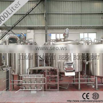 The cost of 1000 L steam heating method brewing beer commerically