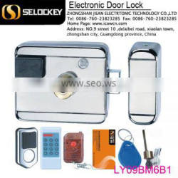 NEW design electronic IC key door lock with wireless remote control (LY09BM6B1)