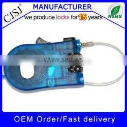 High Security Colorful 3 numbers flexible cable lock