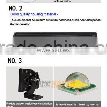 plastic led working light commercial electric led work lamp offroad light bar
