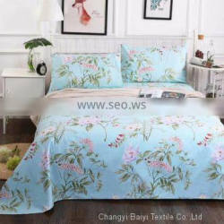 pigment printing 100% polyester microfiber bed sheet fabric for home textile market Sri Lanka