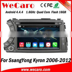Wecaro Android 4.4.4 WIFI 3G car dvd player for ssangyong kyron gps navigation multimedia system 2006 -2012