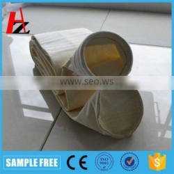 Nonwoven aramid filter bag for cement plant dust collector