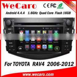 Wecaro WC-TR7015 Android 4.4.4 car stereo 2 din bluetooth car radio for toyota rav4 radio gps 1080p 2006-2012