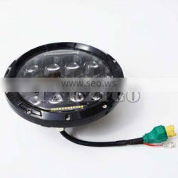 "IP67 IP69K water-proof led head light 7"" with high & low beam for jeep wrangler jk"