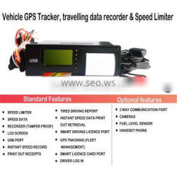 Vehicle Speed Limiter Digital tachograph vehicle GPS Tracker for Truck Bus