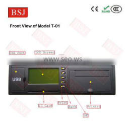 Car gps tracking device with printer