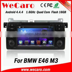 "Wecaro Android 4.4.4 touch screen 7"" navigation systesm for bmw e46 dvd player mirror link bluetooth 1998-2005"