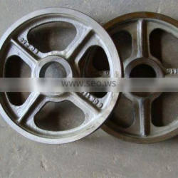 ISO 9001-2008 v belt pulley four spoked style iron cast parts,crane castings parts,cast iron