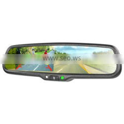 Handsfree car kit Bluetooth Car Rearview Mirror with back up display monitor