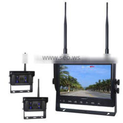 DC 12V to 32V Built-in Wireless Transmitter and Receiver with 7inch Quad Monitor and 4pcs Waterproof Cameras