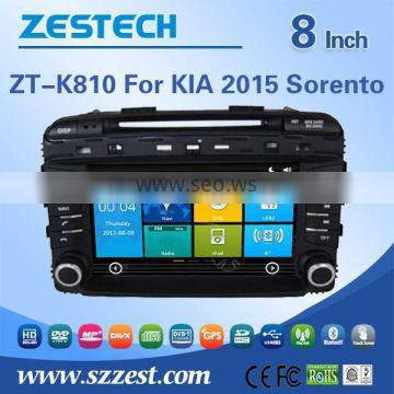 ZESTECH car dvd player For KIA Sorento 2015 car DVD Player with GPS Bluetooth Steering Wheel Control