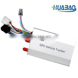 gps tracker connected to vehicle battery with ACC alarm,SOS button,GPRS, SMS tracking,RS232 connection function